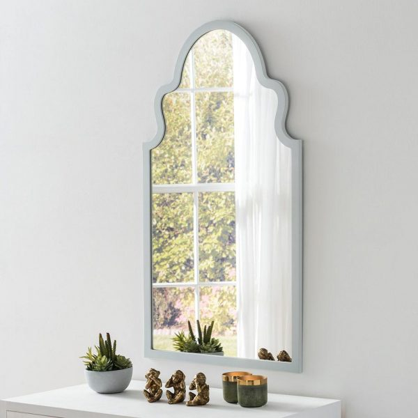 Morocco Contemporary Mirror in Light Grey