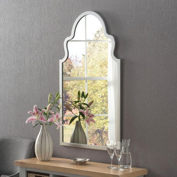Morocco Contemporary Mirror in Silver