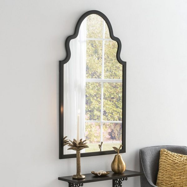 Morocco Contemporary Mirror in Black