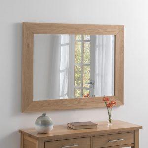 SOLID OAK rectangle mirror