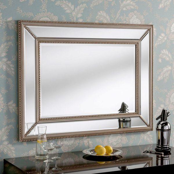 PARIS Contemporary mirror in Silver