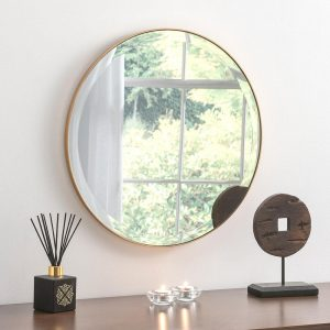 Simplicity Circle Mirror in Gold