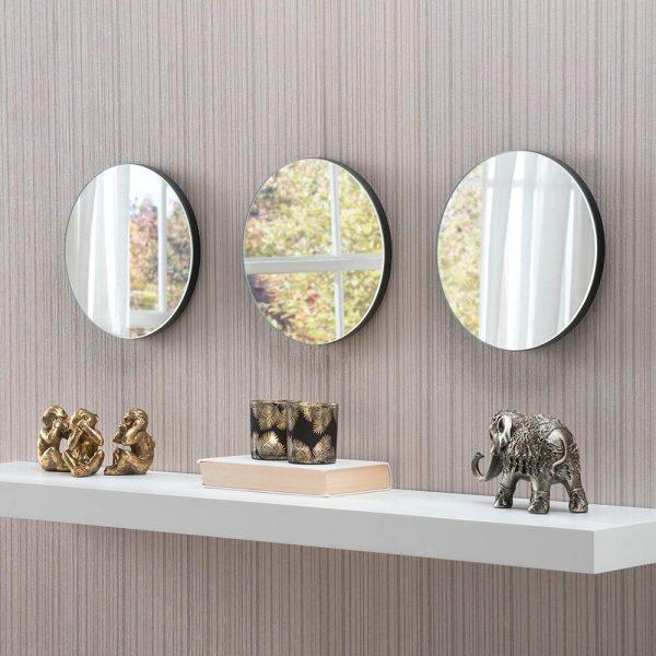 Trio of Round mirrors