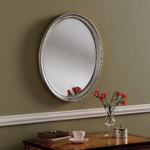 YG0821 Ornate Mirror in Silver