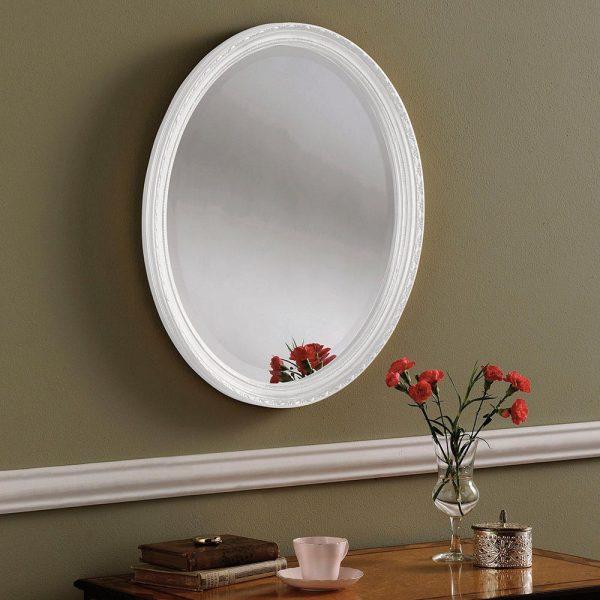 YG0821 Ornate Mirror in WHITE