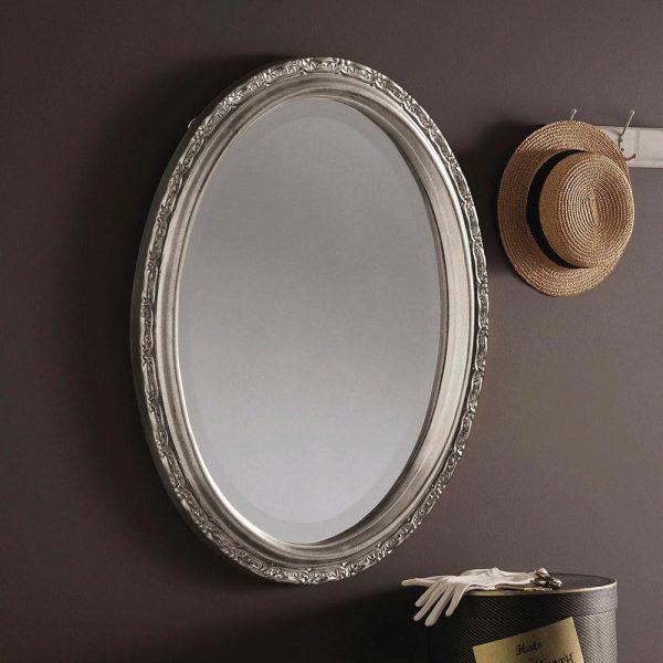 YG0822 Ornate Mirror in Silver
