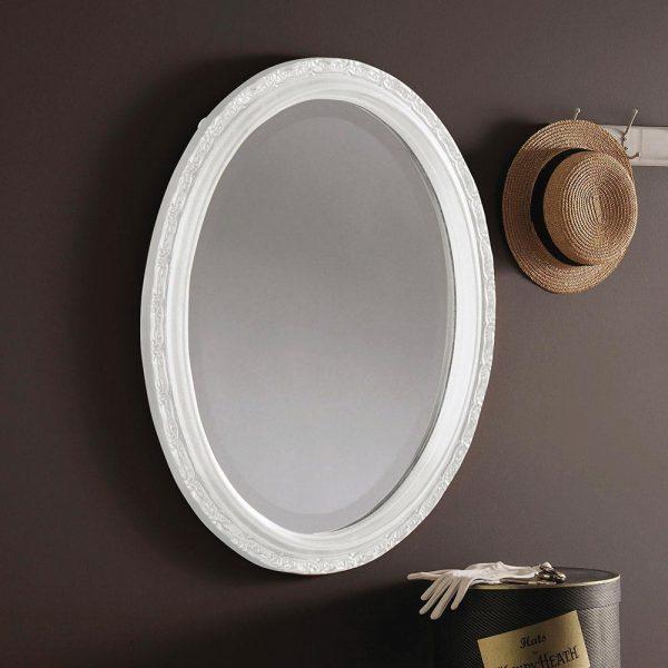 YG0822 Ornate Mirror in WHITE