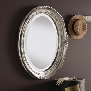 YG0824 Ornate Mirror in Silver