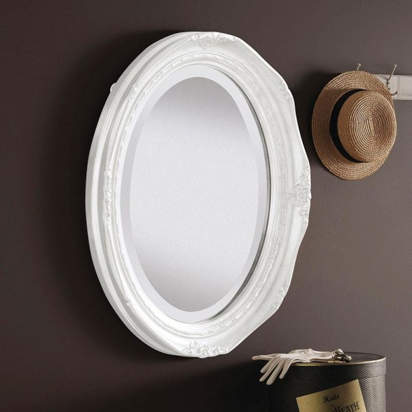 YG0824 Ornate Mirror in WHITE