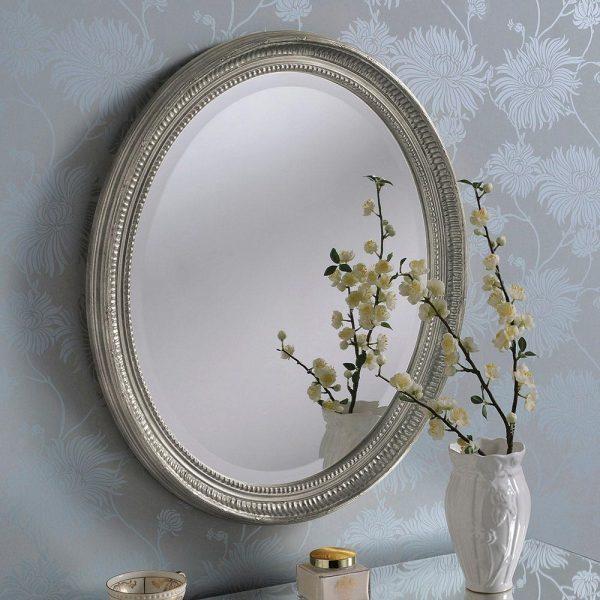 YG0825 Ornate Mirror in Silver