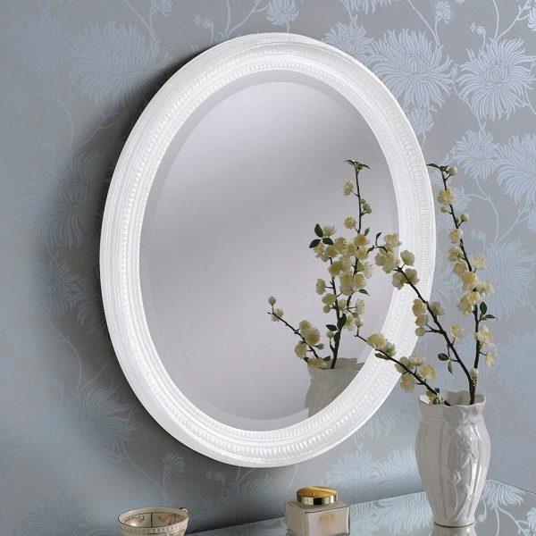 YG0825 Ornate Mirror in WHITE