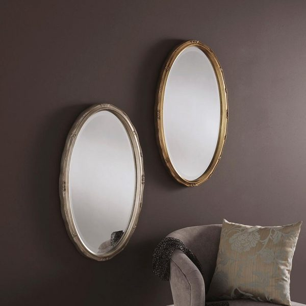YG0826 Ornate Mirror in SILVER and gold