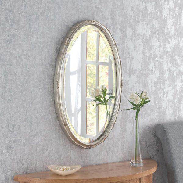 YG0826 Ornate Mirror in SILVER