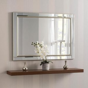 YG110 Venetian Contemporary Mirror in Silver
