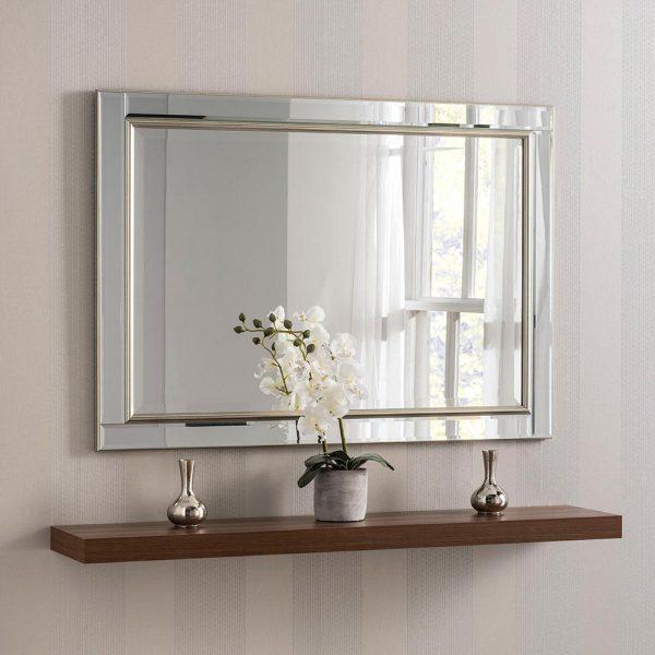 YG110 Venetian Contemporary Mirror in Silver
