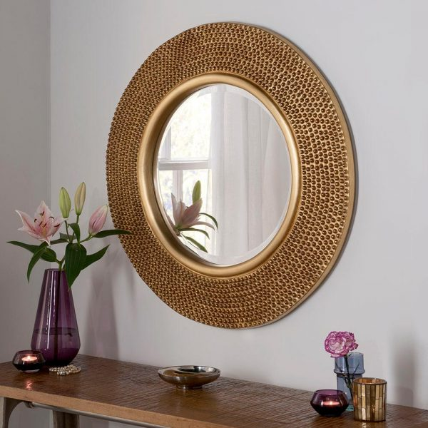 YG126 Contemporary Mirror in gold