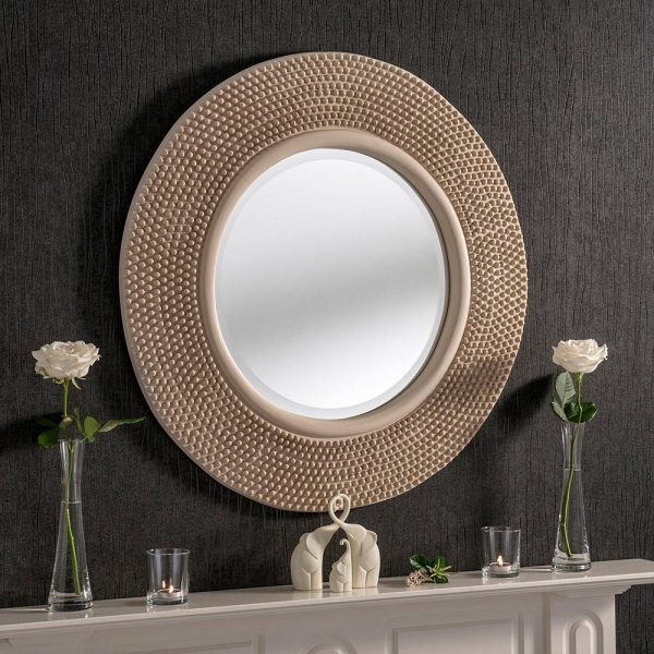 YG126 Contemporary Mirror in Ivory
