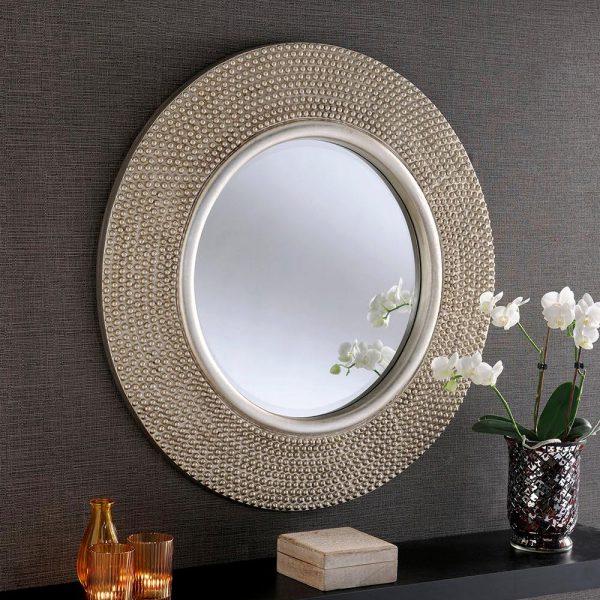 YG126 Contemporary Mirror in Silver