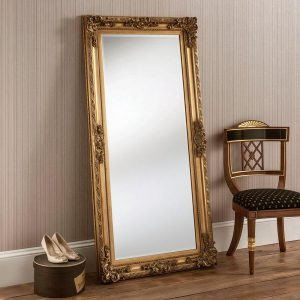 YG137 Baroque leaner mirror in Gold