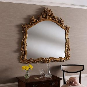 YG204 ornate mirror in Gold