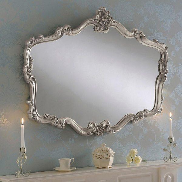 YG206 Regency Style Ornate Mirror Silver