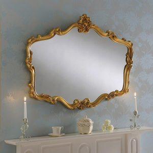 YG206 Regency Style Ornate Mirror Gold