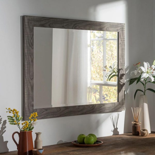 YG214 Rectangle Mirror in Grey