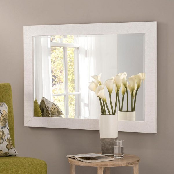 YG214 Rectangle Mirror in White