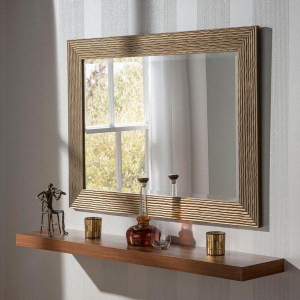 YG223 rectangular mirror in Bronze