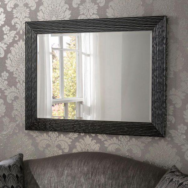 YG223 rectangular mirror in Black