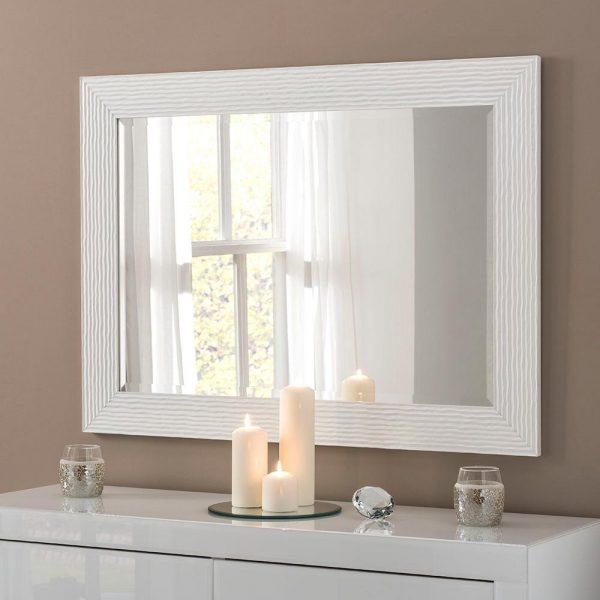 YG223 rectangular mirror in White