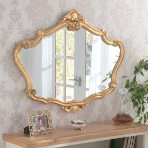 YG225 Ornate Mirror in Gold