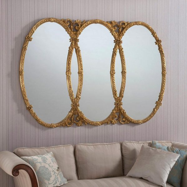 YG240 Ornate Mirror in gold