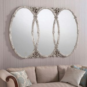 YG240 Ornate Mirror in silver