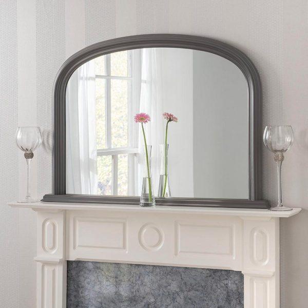 YG310 overmantel mirror in Dark Grey