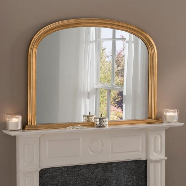 YG310 overmantel mirror in Gold