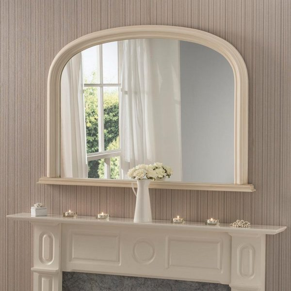 YG310 overmantel mirror in Ivory