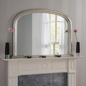 YG310 overmantel mirror in Silver