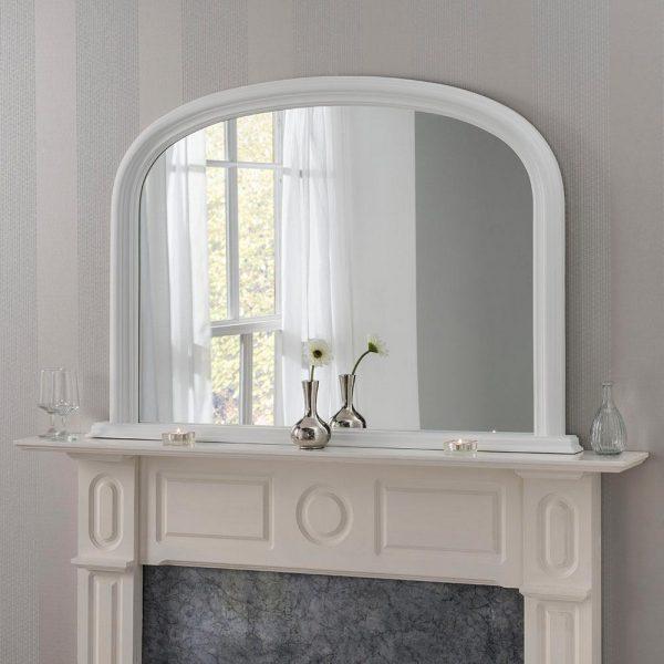 YG310 overmantel mirror in WHITE