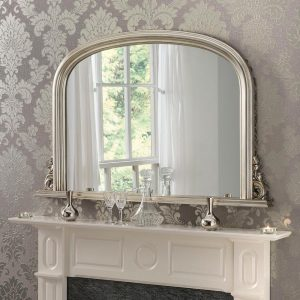 YG311 overmantel mirror in Silver