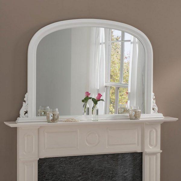 YG311 overmantel mirror in WHITE