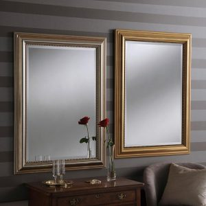 YG312 Rectangle Mirror in Silver and Gold