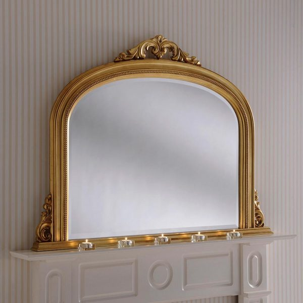 YG313 Overmantel Mirror in Gold