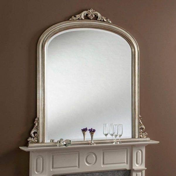 YG313 Overmantel Mirror in Silver