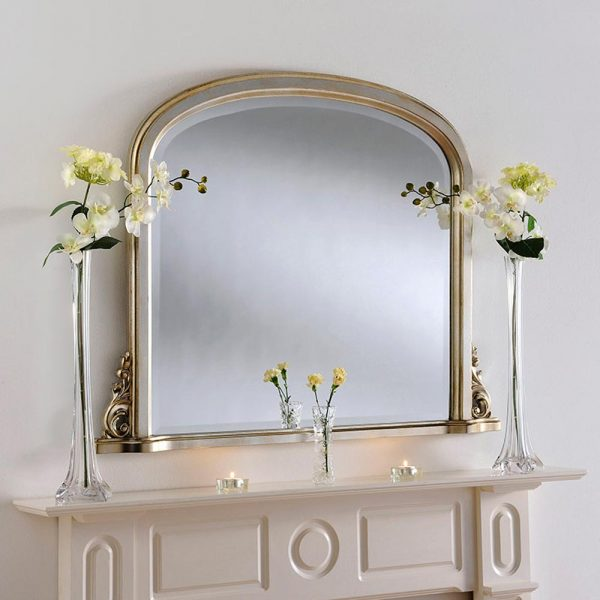 YG98 Overmantel mirror in Silver
