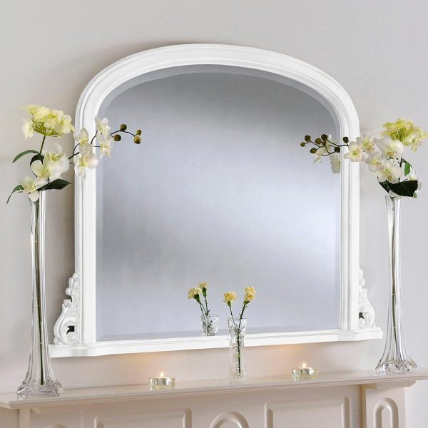 YG98 Overmantel mirror in WHITE
