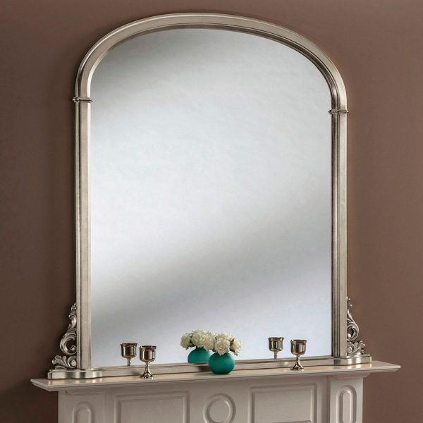 YG98/E Overmantel mirror in silver