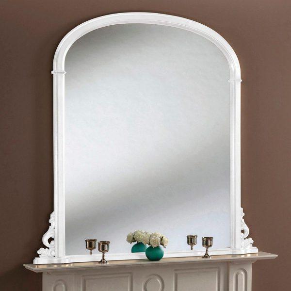 YG98/E Overmantel mirror in white