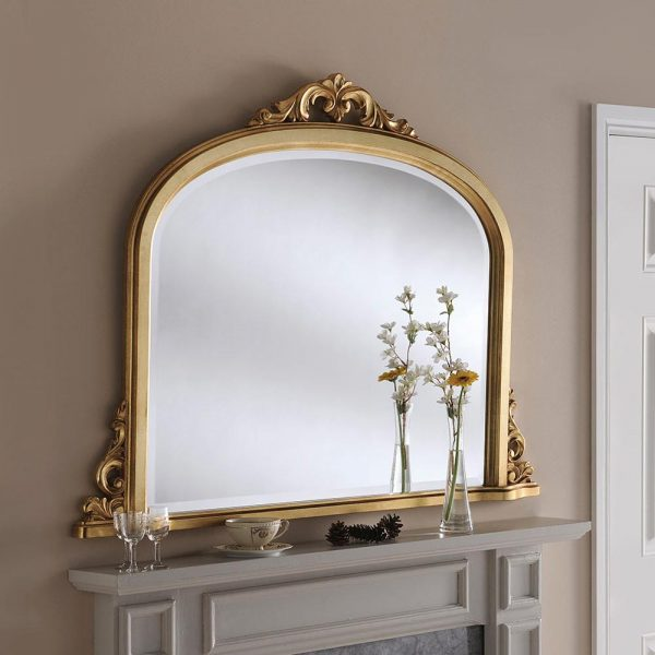 YG99 Overmantel mirror in Gold