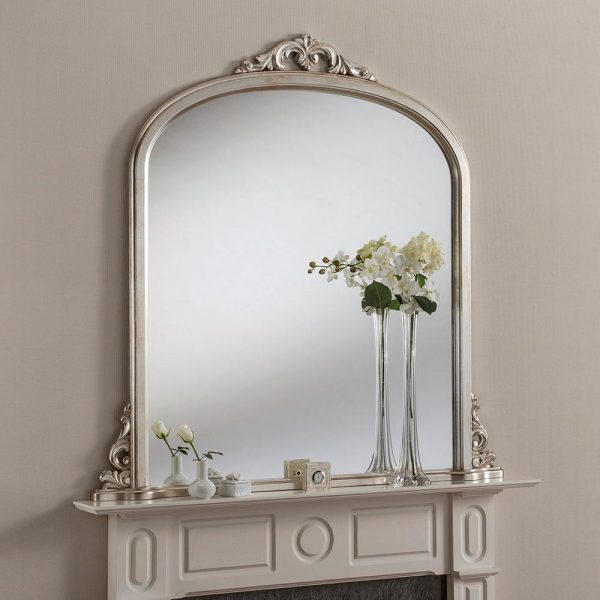 YG99 Overmantel mirror in Silver